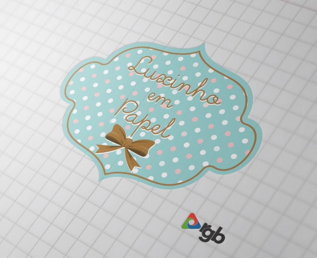 Logo Luxinho em Papel